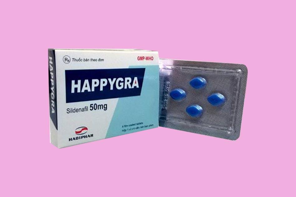 Thuốc Sildenafil dạng biệt dược Happygra