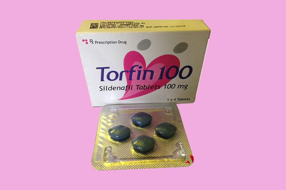 Hình ảnh vỉ thuốc cường dương Torfin 100
