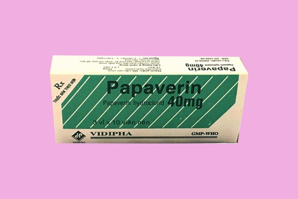 Hình ảnh hộp thuốc Papaverin dạng uống