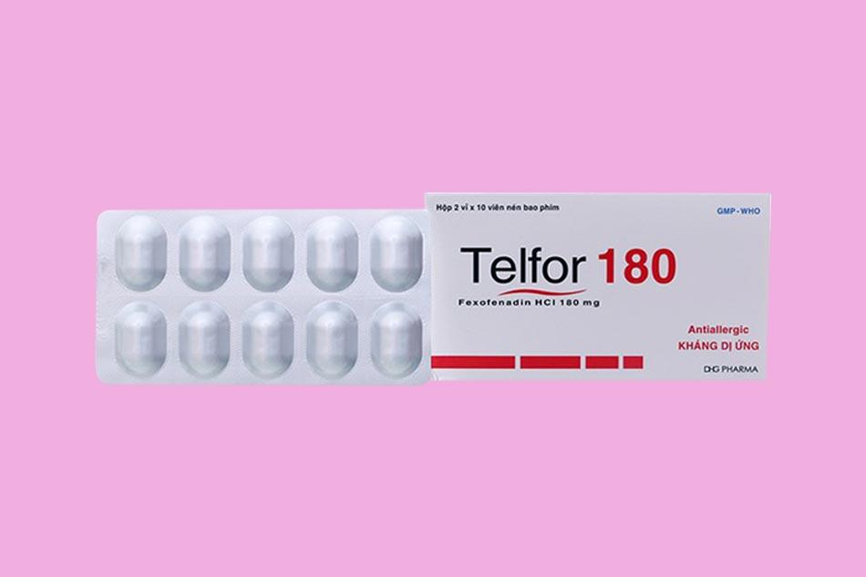 Hình ảnh hộp thuốc Telfor 180mg
