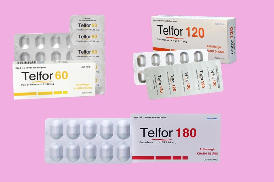 Các dạng hàm lượng của thuốc Telfor