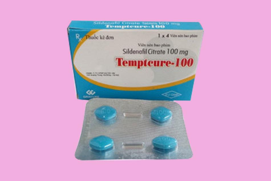 Hình ảnh vỉ thuốc cường dương Tempteure 100