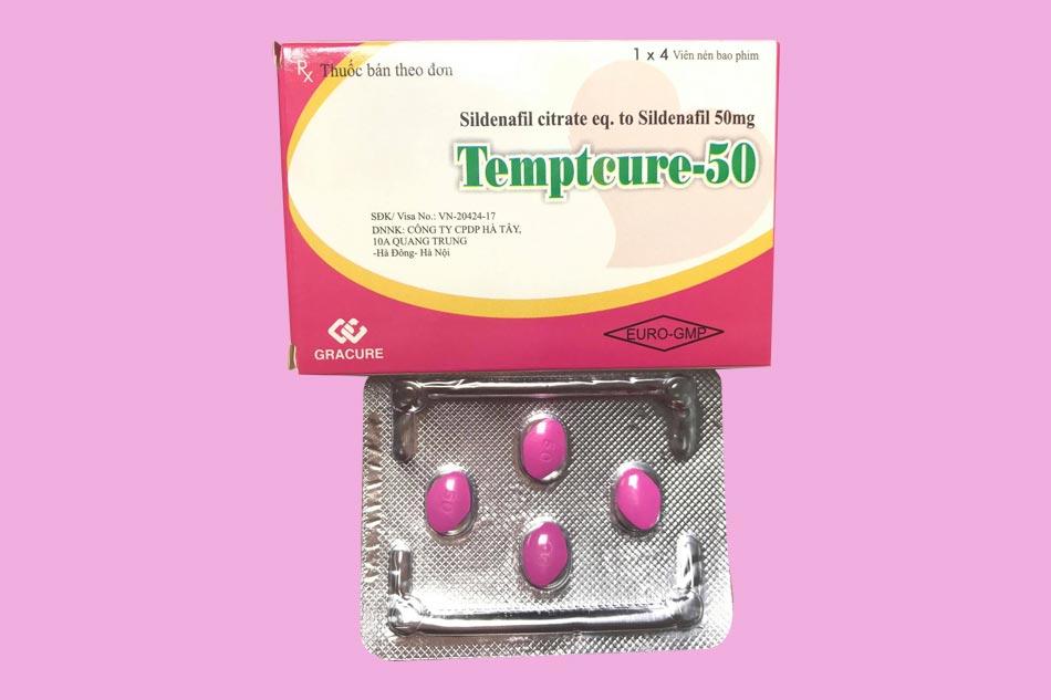Hình ảnh hộp thuốc cường dương Tempteure 50